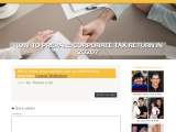 How To Prepare Corporate Tax Return In 2020?