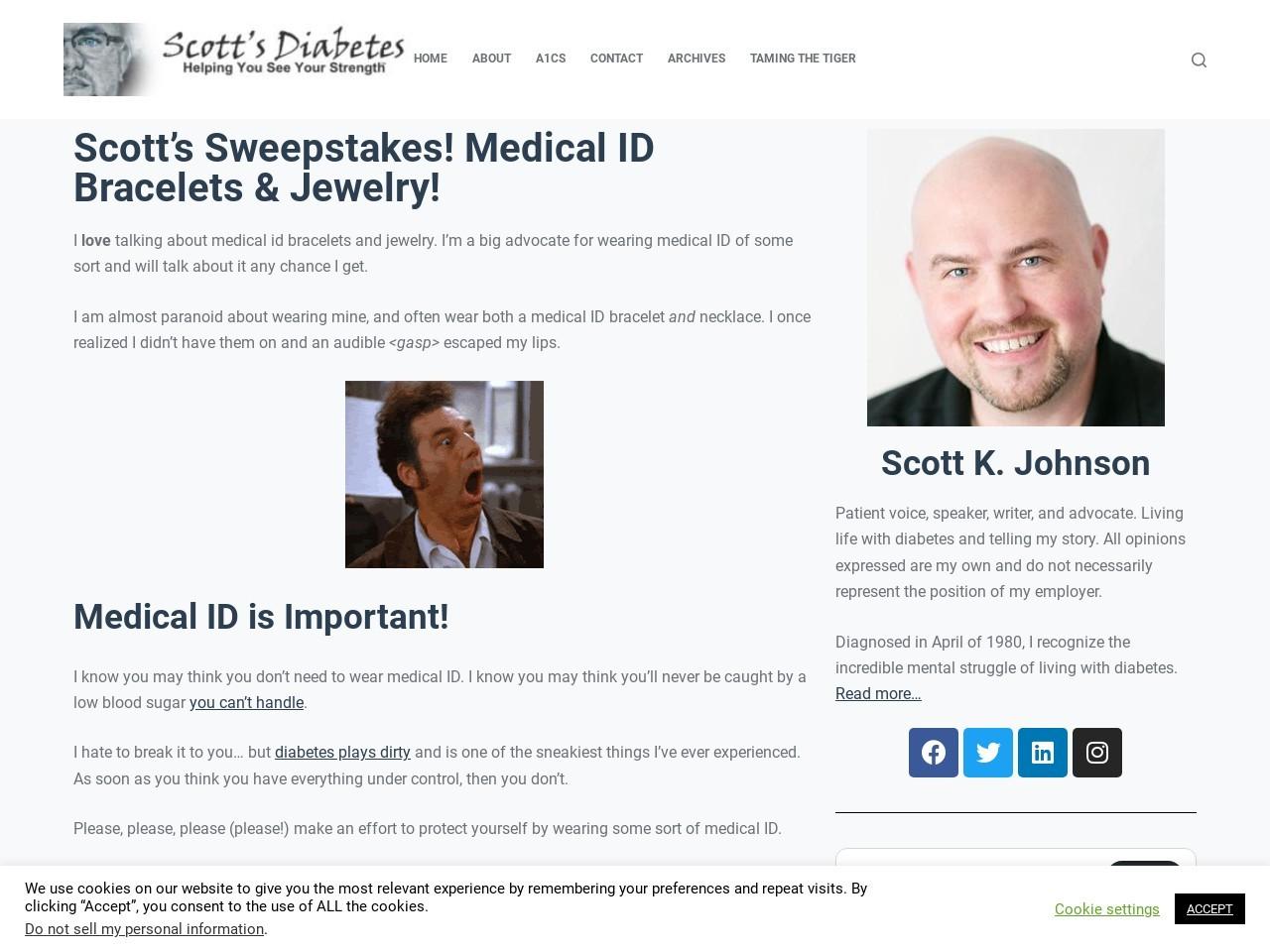 Medical ID Bracelets & Jewelry! – Scott's Diabetes
