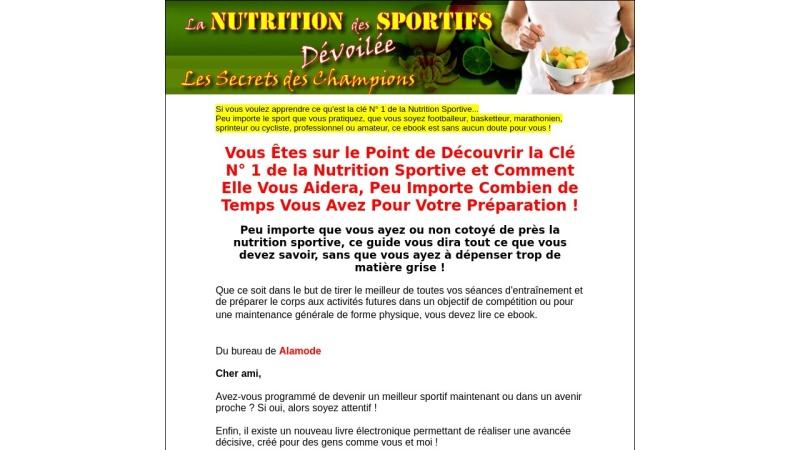 la nutrition des sportifs devoiles !