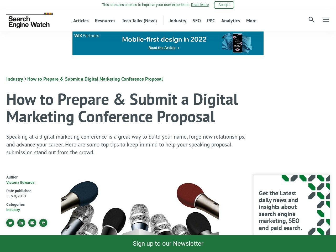 How to Prepare & Submit a Digital Marketing Conference Proposal …
