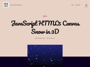 JavaScript HTML5 Canvas Snow in 3D | Seb Lee-Delisleのスクリーンショット