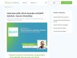 An Interview with CEO & Founder of EZAPPSolution- Gaurav Shandilya