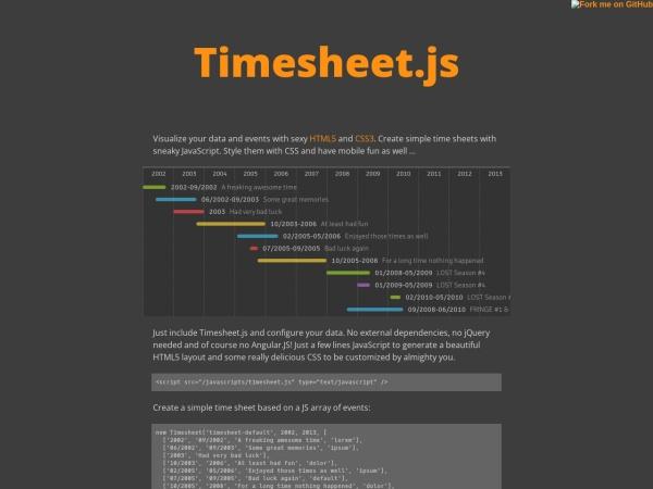 http://semu.github.io/timesheet.js/