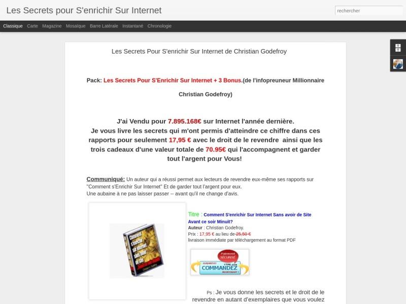 les secrets pour s'enrichir sur internet  3bonus