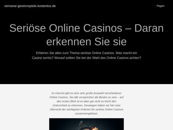Details : serioese-gewinnspiele-kostenlos.de | jetzt kostenlos mitspielen