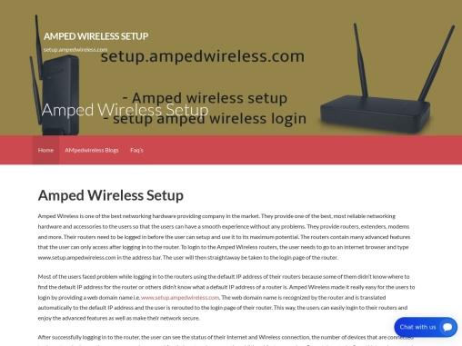 www.setup.ampedwireless.com | amped wireless setup