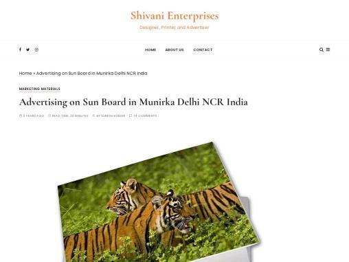 Advertising on Sun Board in Munirka Delhi NCR India