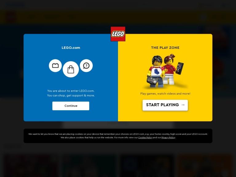LEGO Brand Retail screenshot