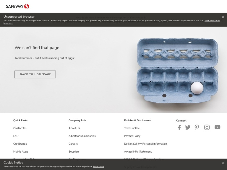 Vons.com screenshot