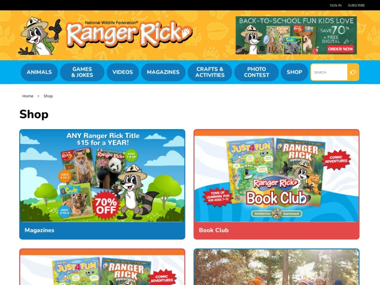 Zoobooks Magazine screenshot