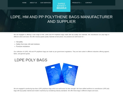 LDPE, HM, PP Poly Bags Manufacturers And Suppliers In Gurgaon
