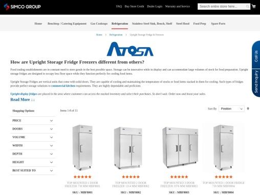 Upright Storage Fridges Freezers