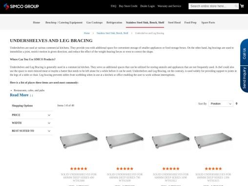 Undershelves and Leg Bracing Supplier Across Australia
