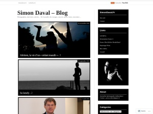 Simon Daval - Blog using the Inuit Types WordPress Theme