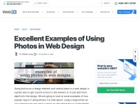 Excellent Examples of Using Photos in Web Design