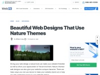 Beautiful Web Designs That Use Nature Themes