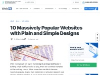 10 Massively Popular Websites with Plain and Simple Designs