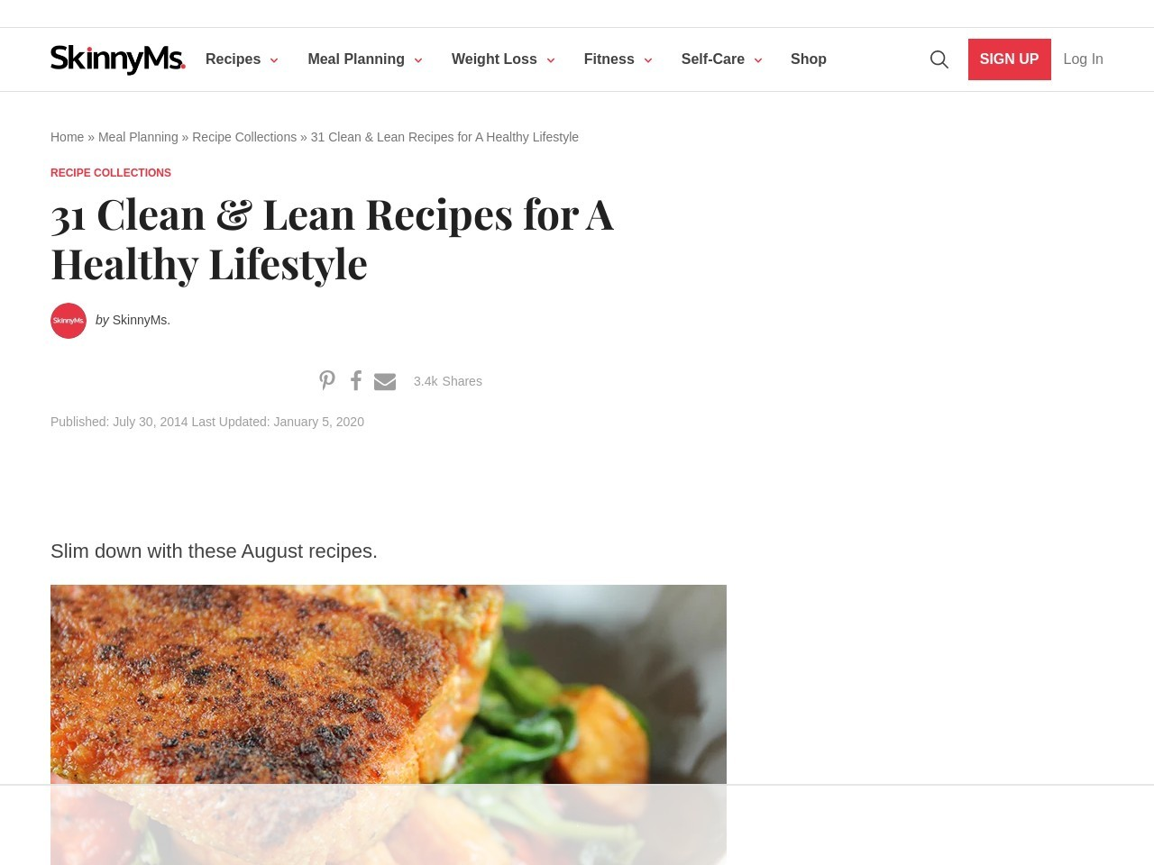 31 Clean & Lean Recipes for August – Skinny Ms.