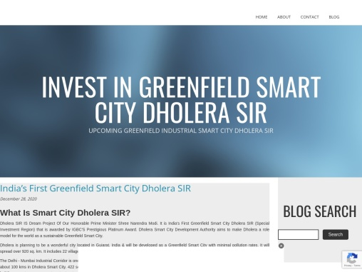 Dholera SIR to be First Greenfield Industrial City In India