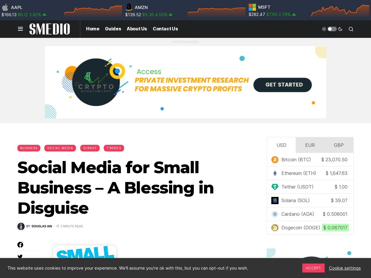 Social Media for Small Business – A Blessing in Disguise – Smedio