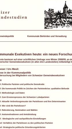 Vorschau der mobilen Webseite socio.ch, Schweizerische Gemeindestudien - Die Texte