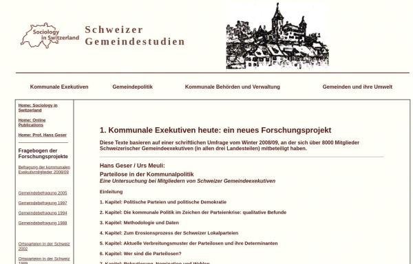 Vorschau von socio.ch, Schweizerische Gemeindestudien - Die Texte