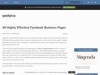40 Highly Effective FaceBook Business Pages