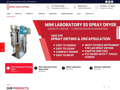 World top Spray Dryers Manufacturers & Suppliers-india