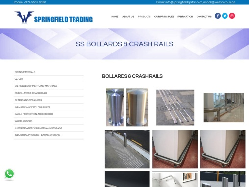 Stainless Steel Bollards in Qatar
