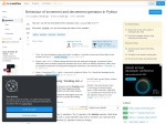 Behaviour of increment and decrement operators in Python – Stack Overflow