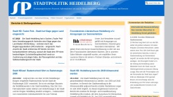 stadtpolitik-heidelberg.de Vorschau, Stadtpolitik Heidelberg