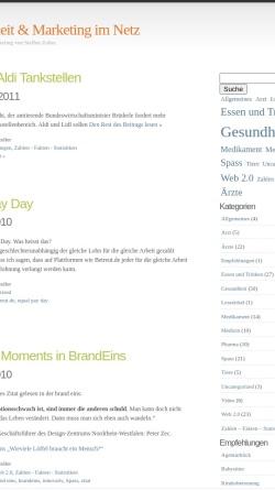 Vorschau der mobilen Webseite steffenzoller.wordpress.com, Gesundes Online-Marketing von Steffen Zoller.