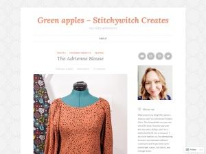 Green apples using the Fictive WordPress Theme