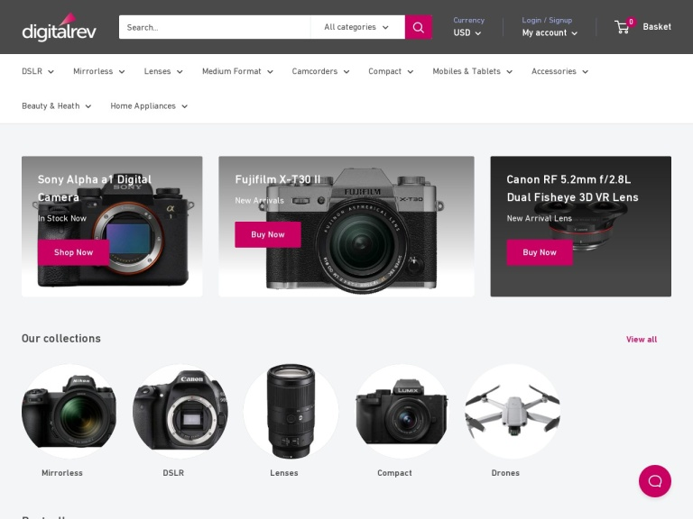 Digitalrev Cameras screenshot