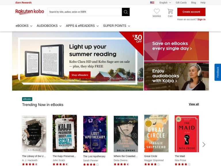 KoboBooks Coupon Codes screenshot