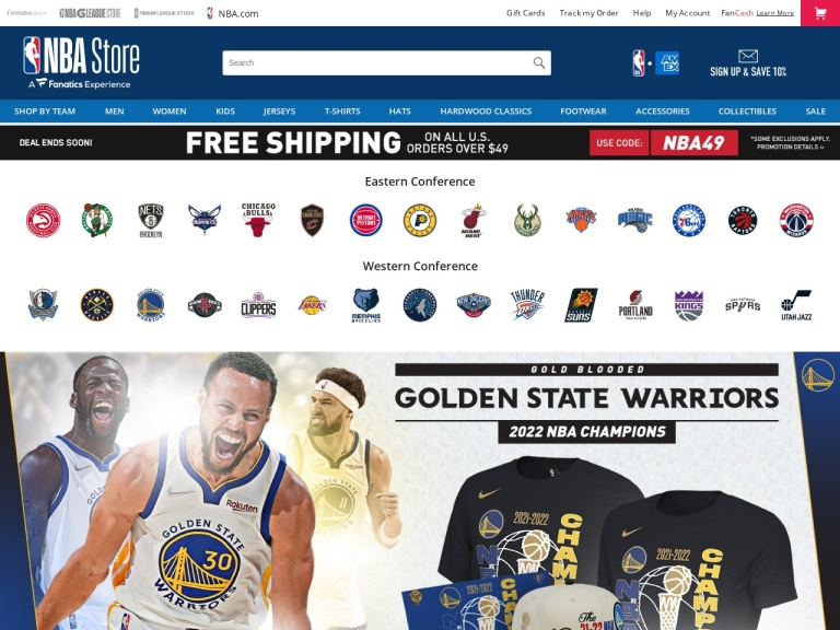NBA Store screenshot