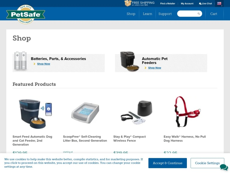 PetSafe.net-PetSafe.net- Pamper Your Pet This Holiday Season! Everything from Electronic Pet Toys and Slow Feed Puzzle Toys to Dog Treat Toys for Hours of Entertainment. PetSafereg; Cat and Dog Toys Starting at $4.99. No Code Required. Shop Now!