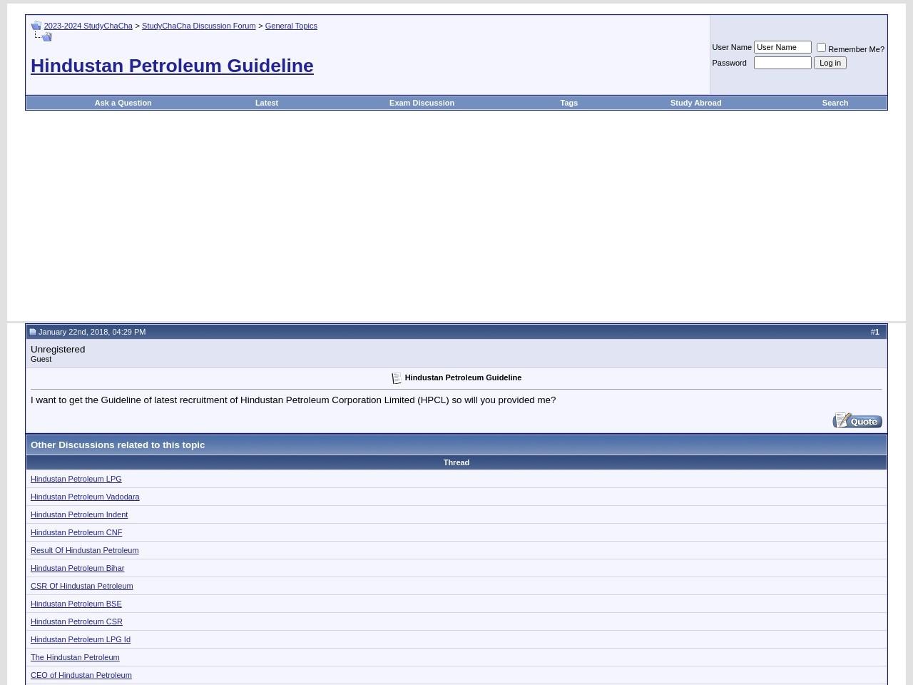 Hindustan Petroleum Guideline