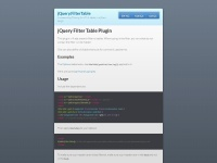 http://sunnywalker.github.io/jQuery.FilterTable/