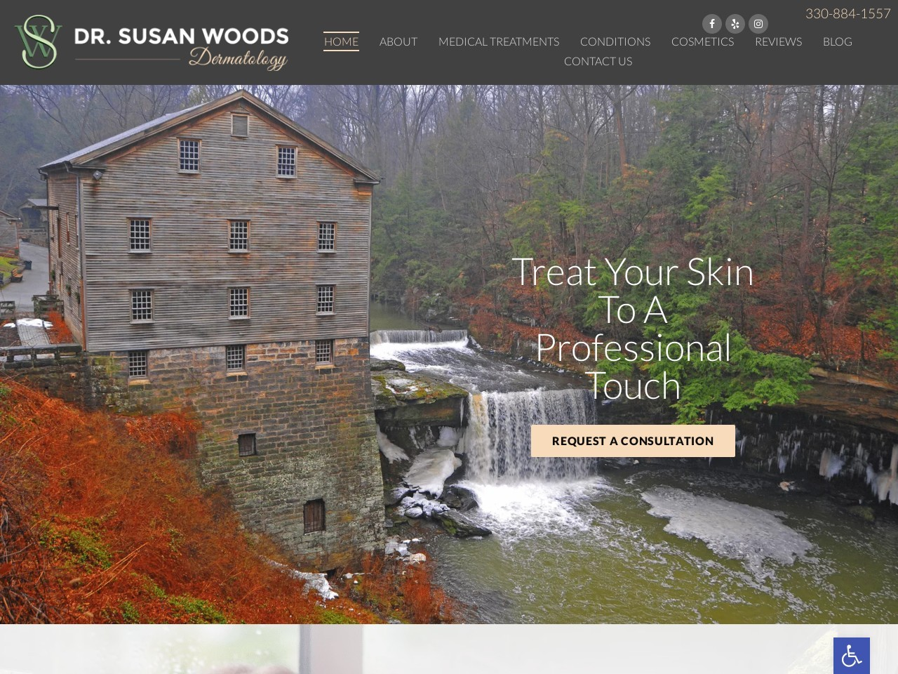 susanwoodsdermatology.com screenshot