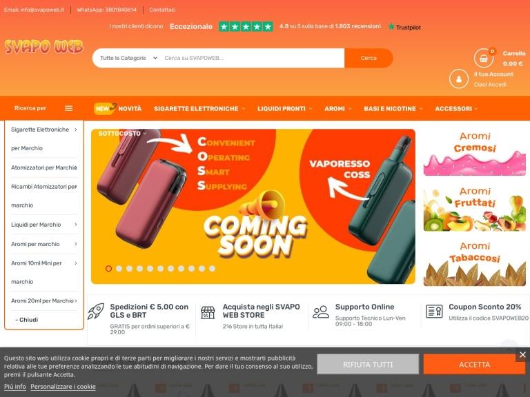 Svapoweb screenshot
