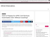 How to Prepare For UPSC Civil Services Examination 2021 Without Coaching?