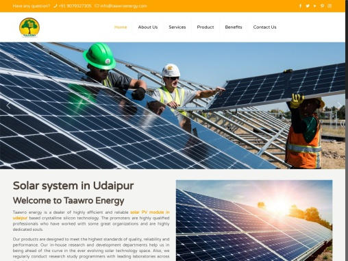 Best Solar System Installation in Udaipur | Solar Panels in Udaipur | Taawro Energy