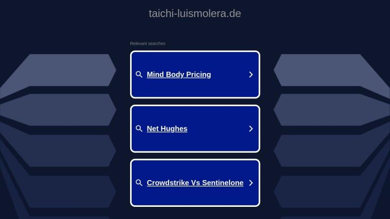 taichi-luismolera.de Vorschau, Luis Molera