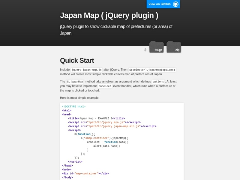 Japan Map ( jQuery plugin )
