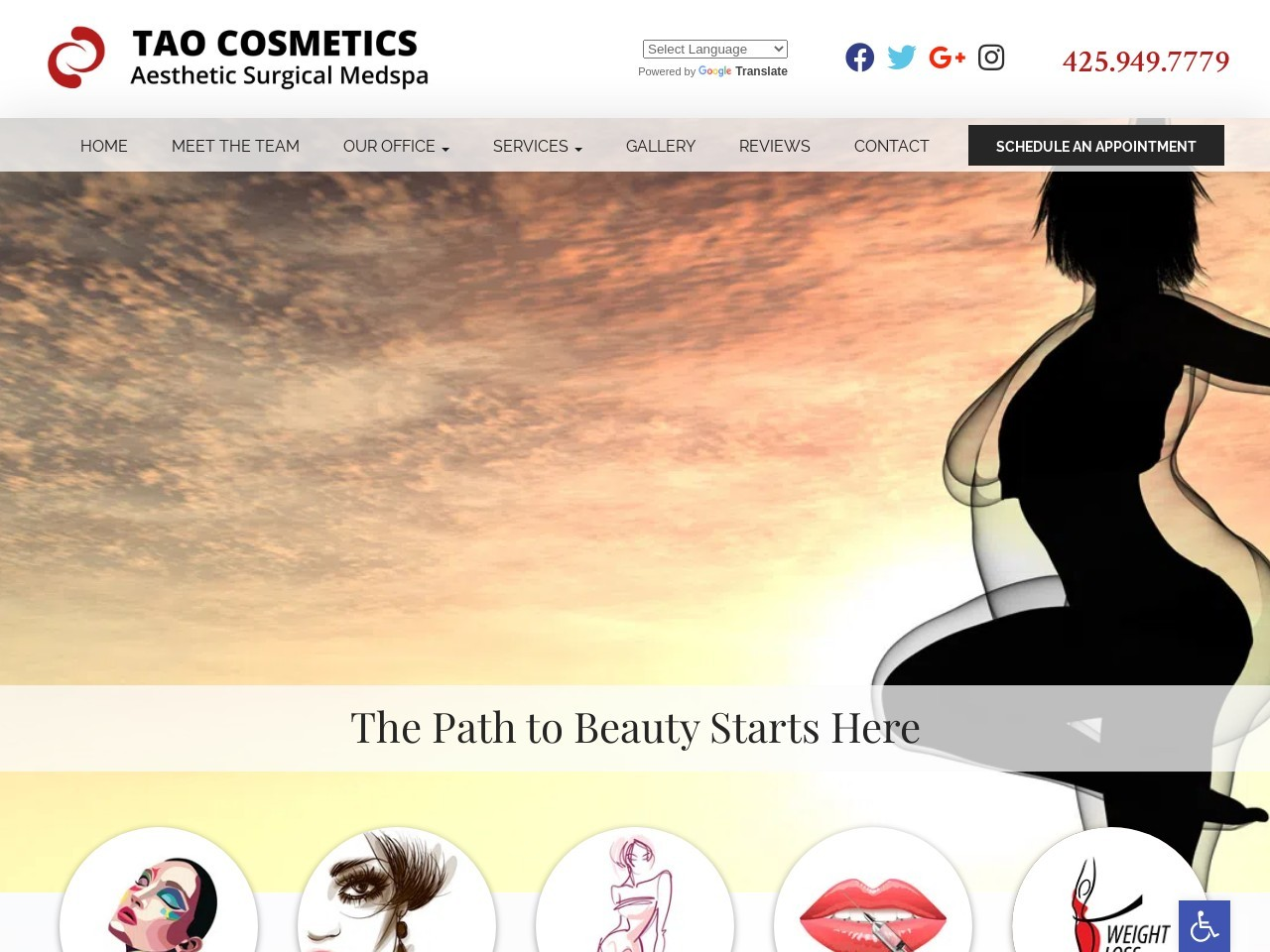 taocosmeticsurgery.com/ screenshot
