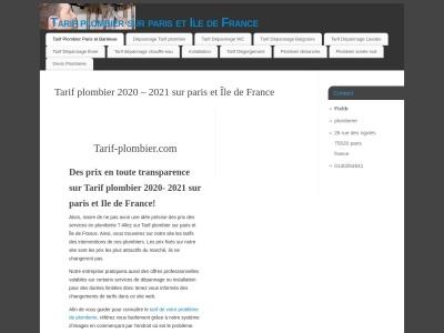 Tarif-Plombier.com : Les tarifs des plombiers