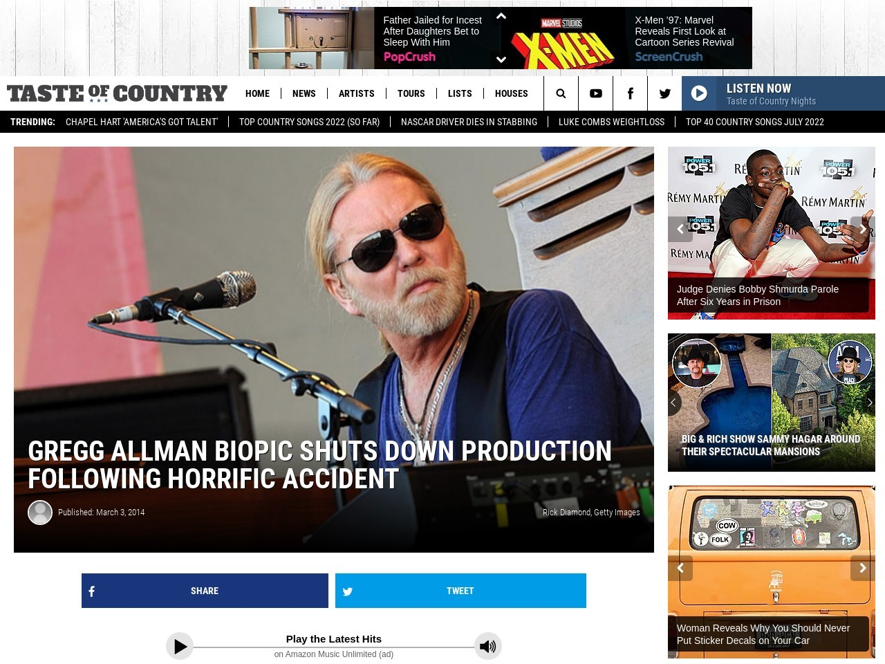 Gregg Allman Biopic Shuts Down Production – Taste of Country