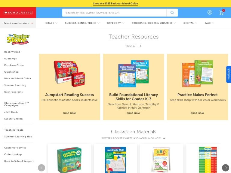 Scholastic Teacher Express screenshot
