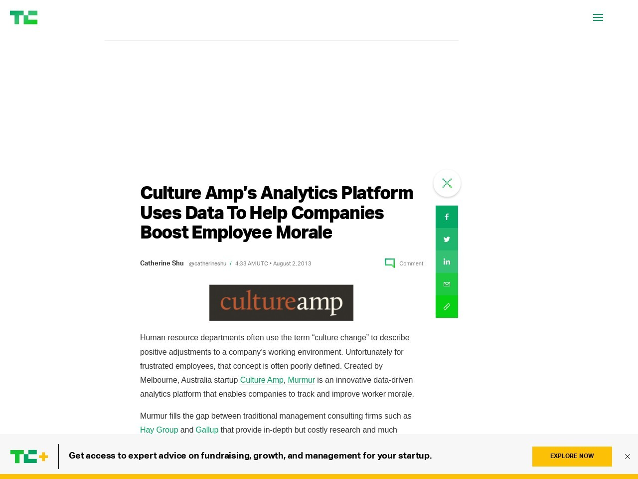 Culture Amp's Analytics Platform Uses Data To Help Companies Boost …